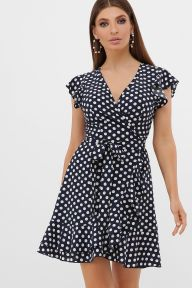 Платье София б/р синий-белый горох с. Glem p57535