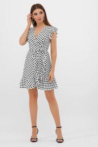 Платье София б/р молоко-черный горох с. Glem p57534