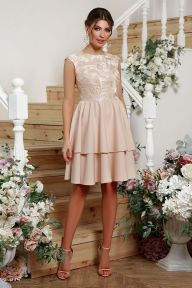 Платье Лилия б/р бежевый Glem p57729