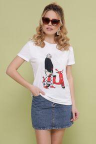 Девочка с мопедом футболка Boy-2 белый Glem p48946
