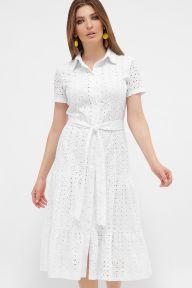 Платье Уника к/р белый Glem p57816