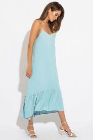 Летний голубой длинный сарафан Лоретт It Elle 51189