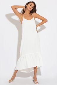 Летний длинный сарафан белого цвета Магали It Elle 51191