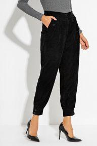 Вельветовые черные брюки-бананы Рута It Elle 4173
