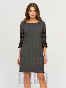 Платье EMILY темно-серое InRed 7624
