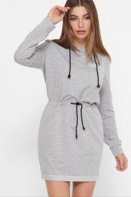 Платье Кити д/р серый меланж Glem p61432