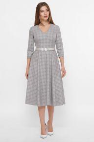 Платье Киана д/р клетка серый-розовый Glem p61081