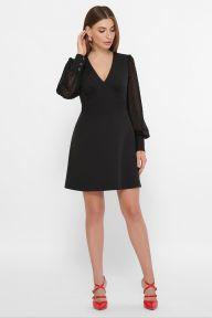 Платье Делила д/р черный Glem p61768