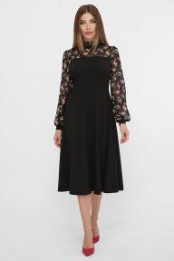 Платье Алтея д/р черный Glem p62273