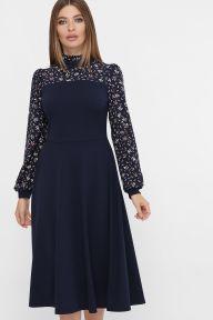 Платье Алтея д/р синий Glem p62274