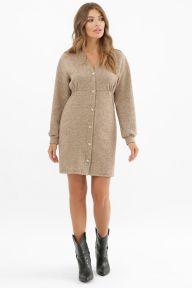 Платье Розалина д/р темно бежевый Glem p62378