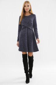 Платье Дафна д/р синий Glem p63568