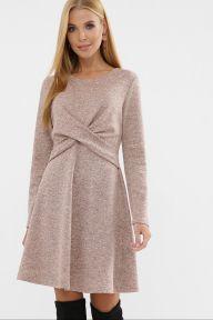 Платье Дафна д/р персик Glem p63570