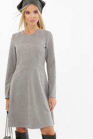 Платье Ронни д/р серый Glem p62686