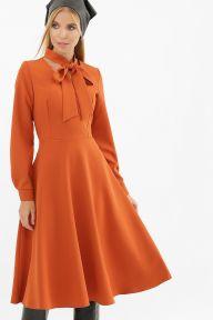 Платье Киа д/р терракот Glem p62678
