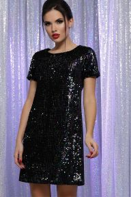 Платье Ираида к/р черный-хамелеон Glem p64106
