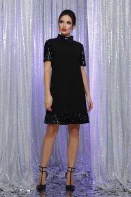 Платье Бетти к/р черный-хамелеон Glem p64186