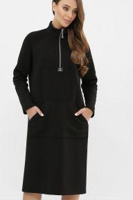 Платье Айсин д/р черный Glem p64322