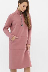 Платье Айсин д/р пыльная роза Glem p64323