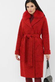 Пальто MS-184 Z Ш4-красный Glem p65126