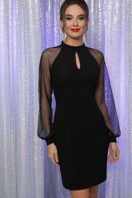 Платье Маргарет д/р черный Glem p64191
