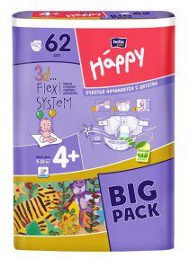 Підгузники дитячі Bella Happy Maxi Plus 4 (8-18 кг) 66 шт