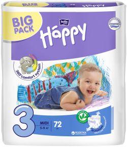 Підгузники дитячі Bella Happy Midi 3 (5-9 кг) 72 шт
